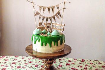 Детский торт без мастики