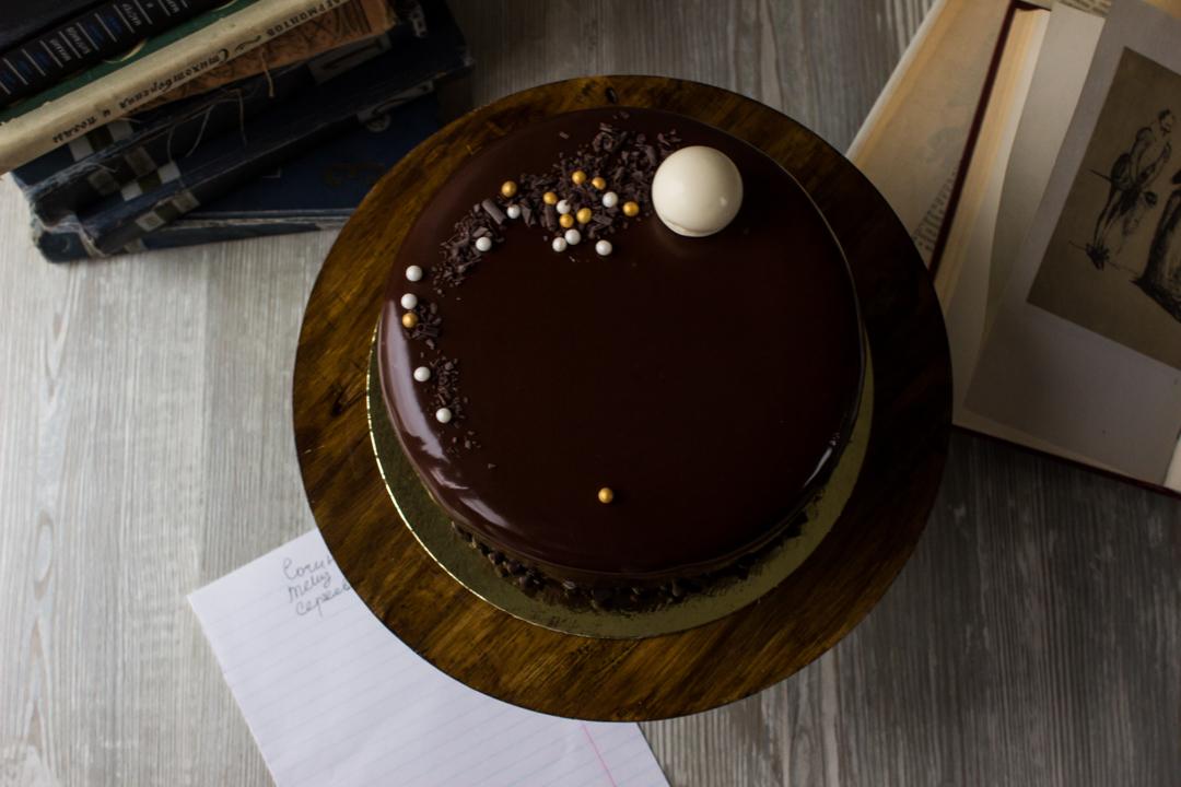 Шоколадная зеркальная глазурь рецепт с фото