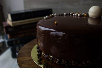 Шоколадная зеркальная глазурь пошаговый рецепт с фото