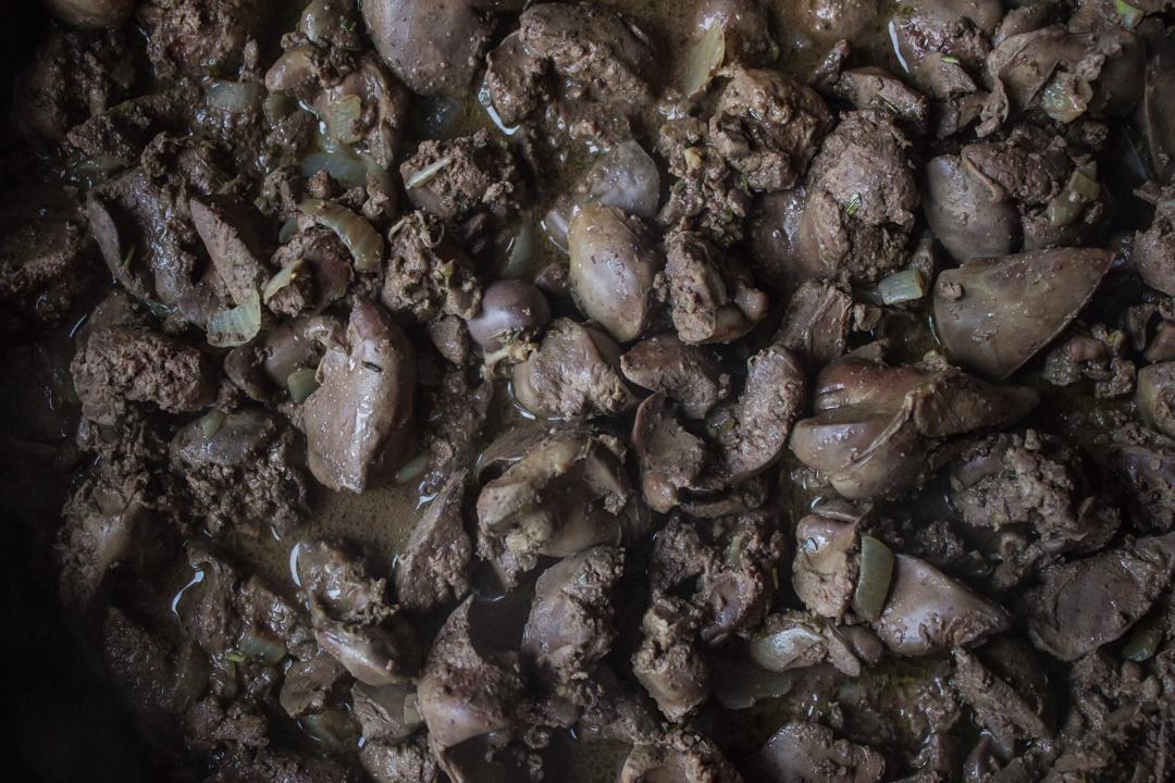 Паштет из куриной печени с грибами