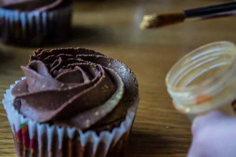 Шоколадные капкейки «Розочки»