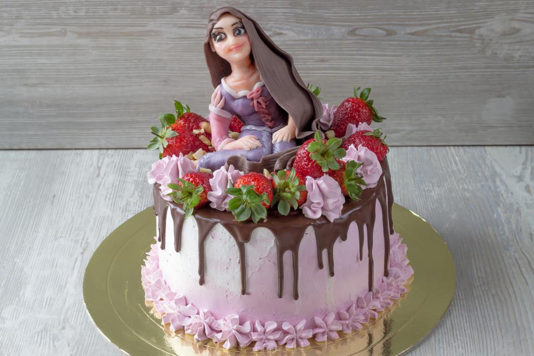 Постный торт с ягодами