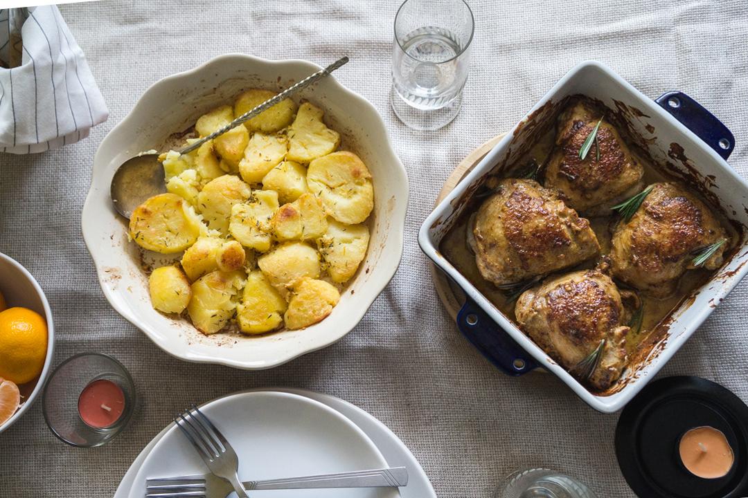 Запечённый картофель с курицей