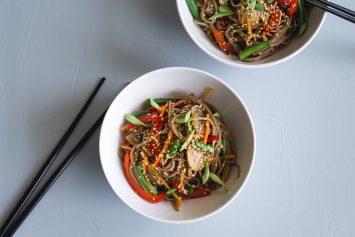 Гречневая лапша с овощами рецепт