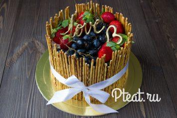 Торт с ягодным муссом