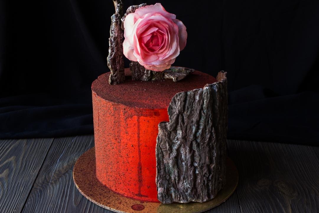 Шоколадный декор: кора дерева