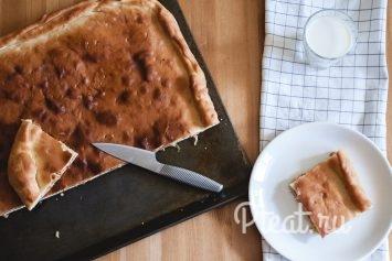 Пирог с тушёной капустой