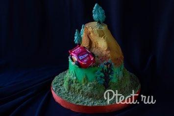 Детский торт с машинкой