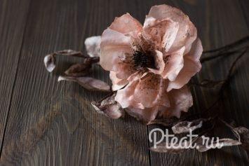 Вафельные цветы мастер-класс