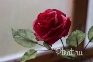 Вафельная роза