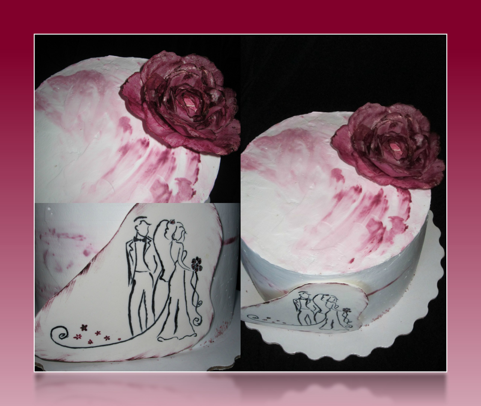 Вафельная роза.