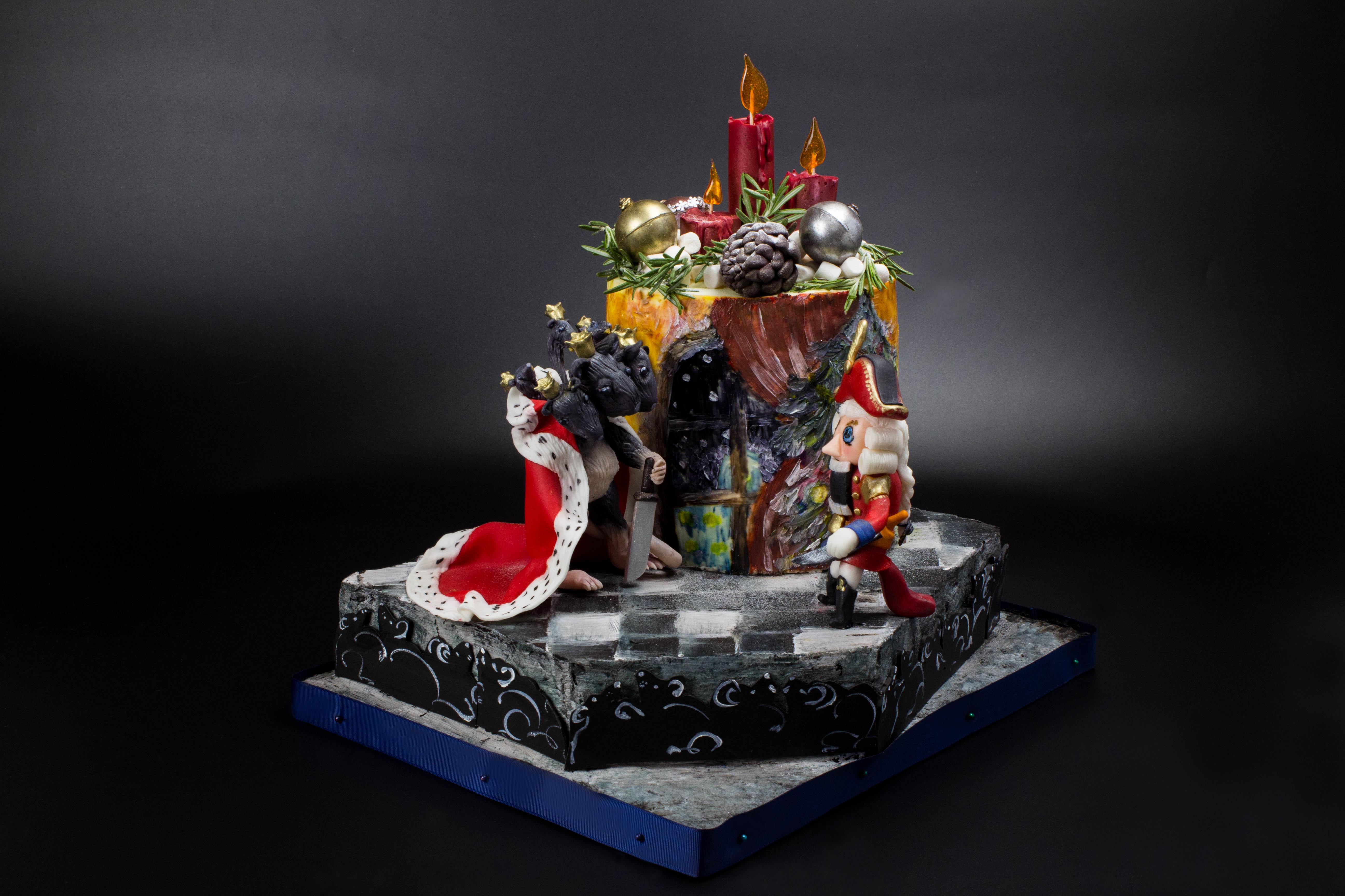Новогодний торт Щелкунчик и Мышиный король