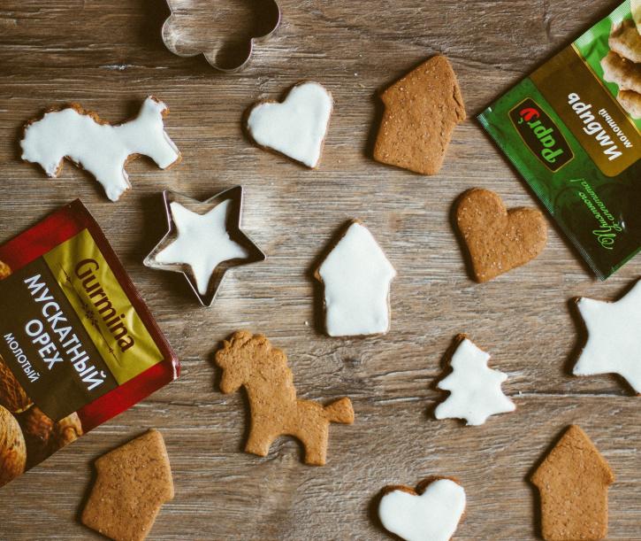 «Рождественское имбирное печенье  с глазурью»