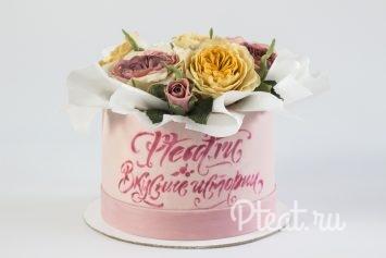 Торт шляпная коробка