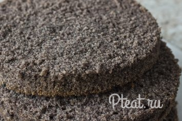 Бисквит с чёрным кунжутом