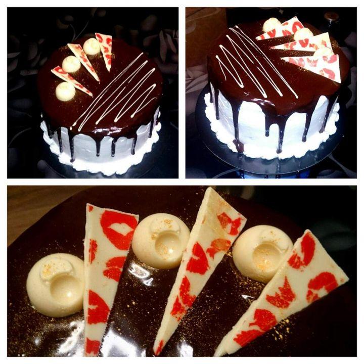 Как сделать шоколадом на торте подтеки