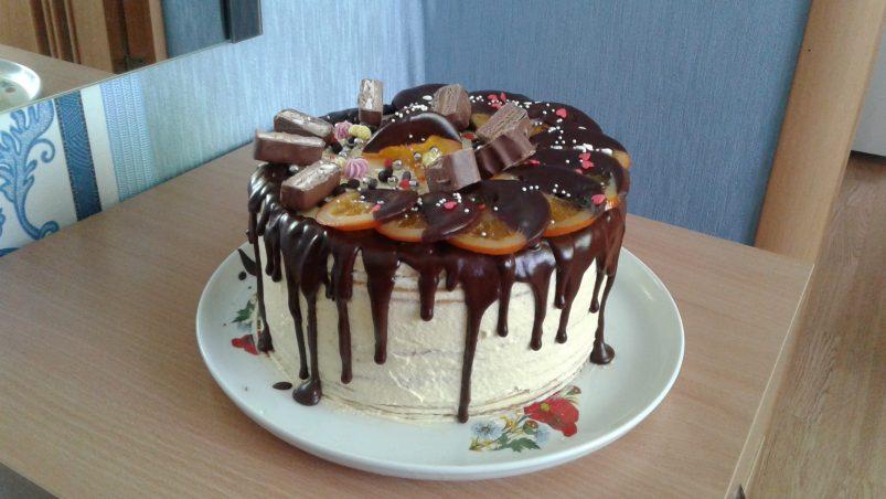подтеки из шоколада на торте рецепт